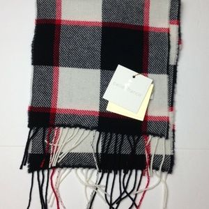 Belle France Plaid Scarf 90% Wool & 10% Cashmere